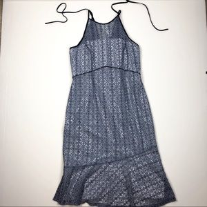 Antonio Melani Blue Sleeveless Lace Dress Doze 10